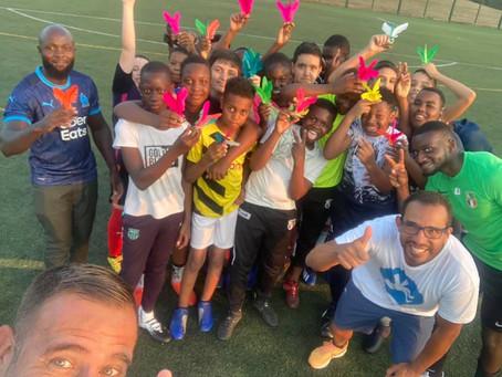Les jeunes footballeurs de Villiers-le-Bel découvrent Plumy