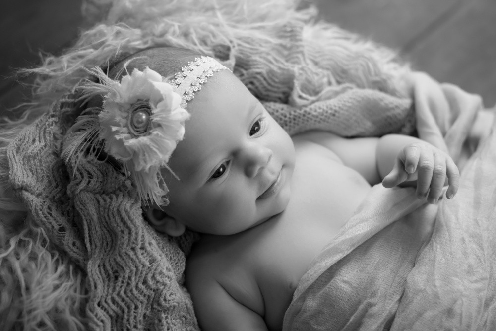 Photo of Sofia baby girl in baby photography session in Burnsville Minnesota