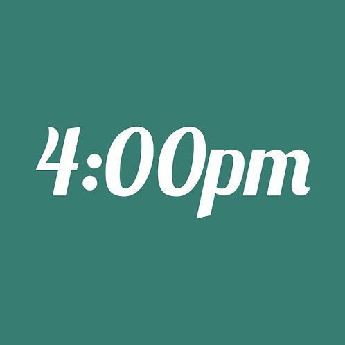 4:00pm Mini Session (8/24 Outdoor)