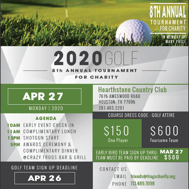 8th Annual Golf Tournament for Charity