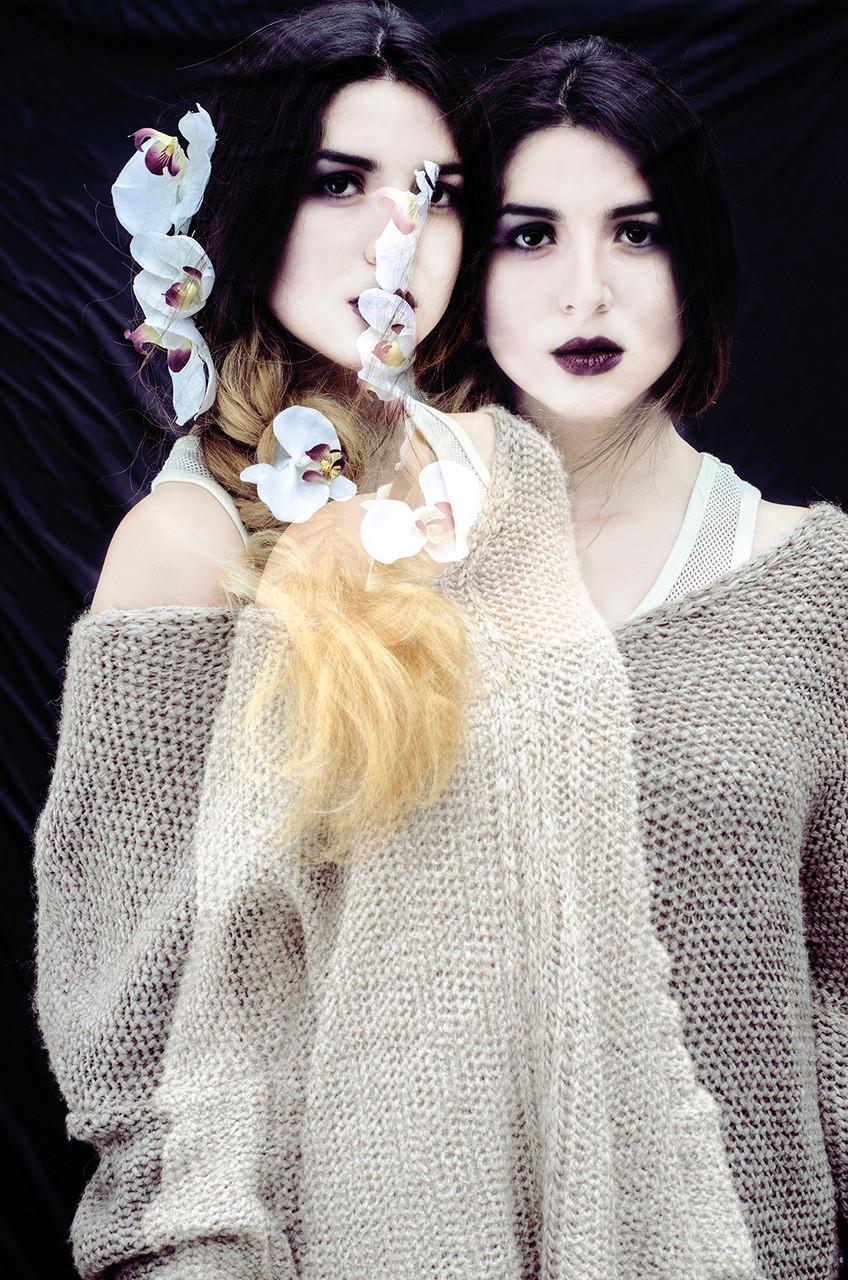 Double exposure beauty magic.