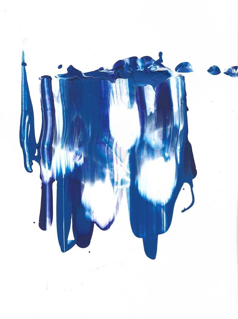№46  paper, acrylic paint