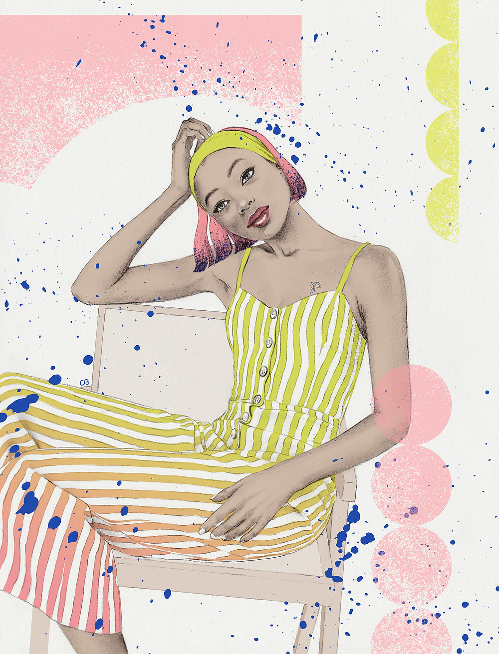 [ Serenity ] Illustration series depicts women with their sense of tranquillity and comfort.