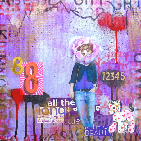 Mixed media artist Lorette C. Luzajic