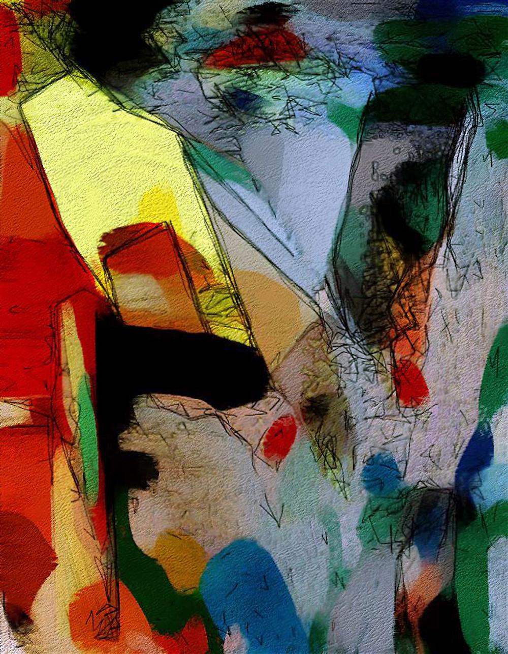 Laske Color #7,. Broad Strokes No. 10, 18x14