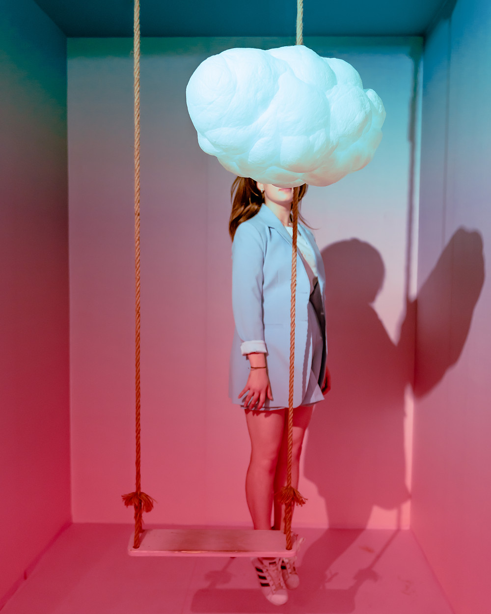 Girl with her head in the clouds  Live free and put your head in the clouds