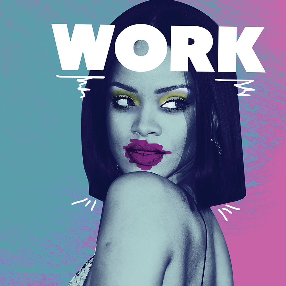 I was really inspired by Rihanna's clip work it's a mixture of photo montage and coloring.