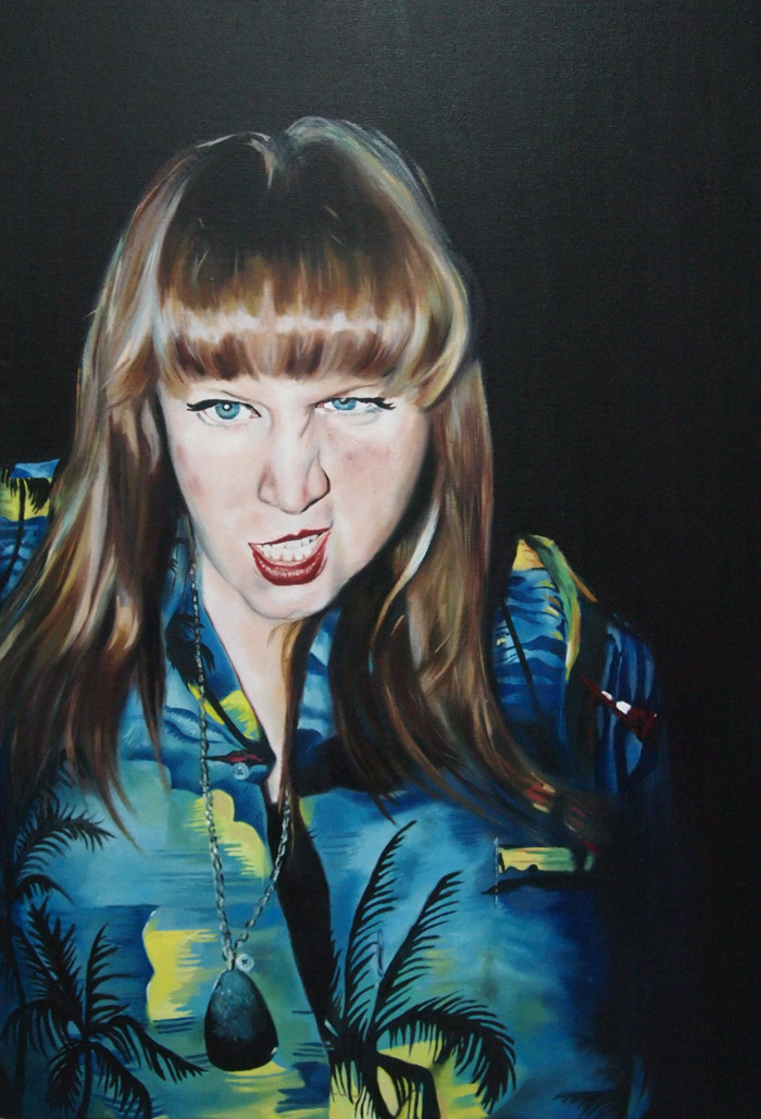 'Ulter Ego' Oil on Canvas (89cm x 59cm) This piece was created while living in Bristol, being immersed in a fantastic environment of culture and escapism. This piece is an energetic take on youth.