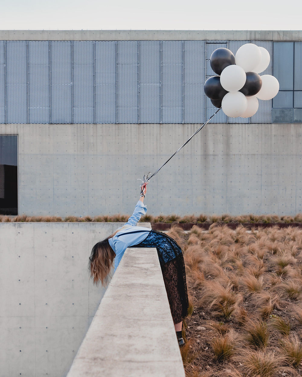 Girl and Her Balloons  Some days, you need extra dose of lift