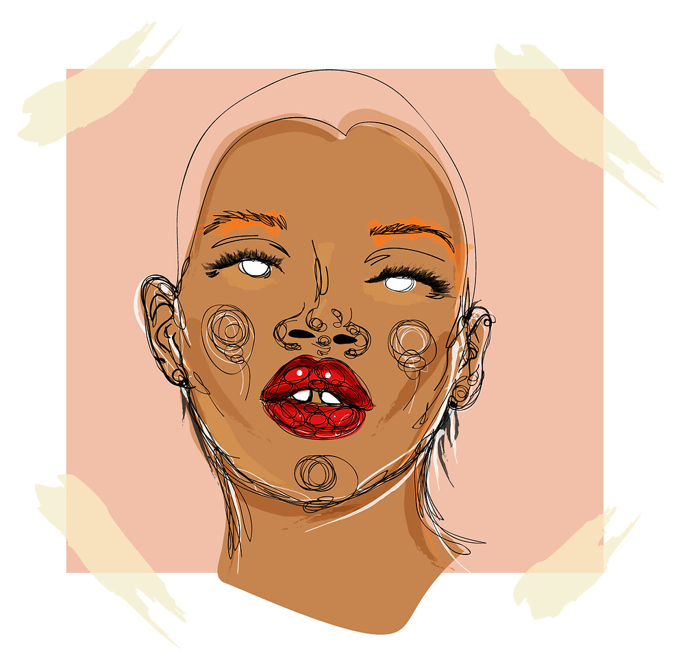 Slick Woods: I love doing my artwork and sketch and giving them a different look. I love the lines it allows me to be imperfect in my perfection.