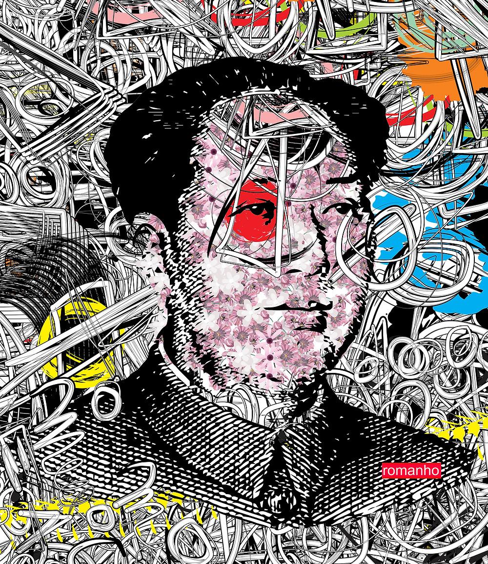 MAO Graffiti Style, Digital  Work on Acrylic  Fuji Panel Artist: romanho
