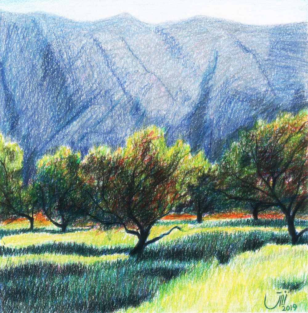 """No.132, Iran. Colored pencil on paper. """"This painting is my beloved one. I have been living far from my homecountry and I miss it so much. It brings me beautiful memories."""""""