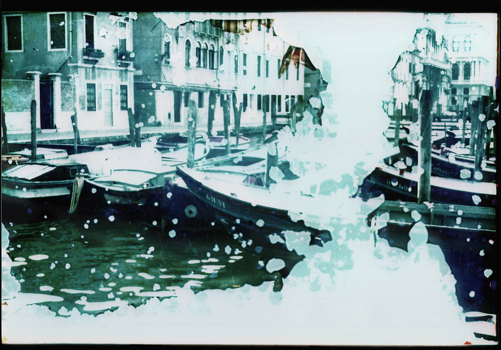 """This image of Venice belongs to the series """"Past vivencia"""". It questions the process of entropy of our world through a subject, Venice, that is constantly and endlessly sinking. The city, whose walls protect so many artworks, unavoidably goes toward its loss. As this city, our body will also end up being submerged, leaving us only the memories of our moments wholeheartedly lived (""""vivencia""""), as an imprint of what we have been."""