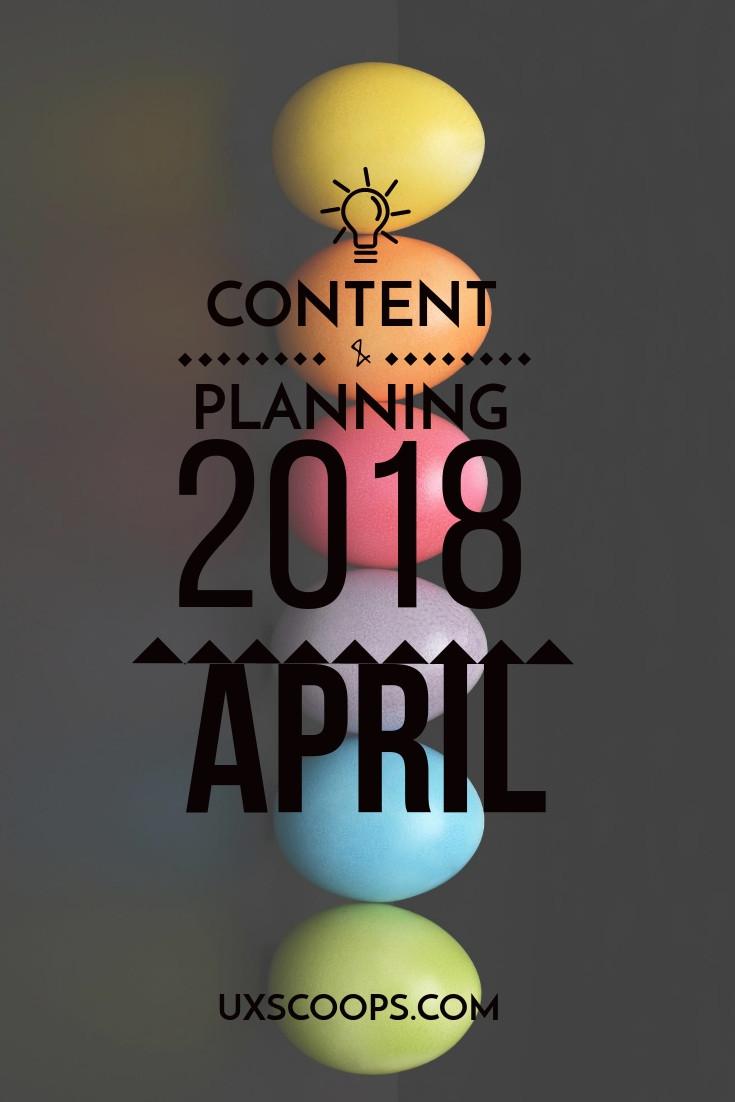Content Planning Calendar for 2018 Social Media Marketing Pinterest