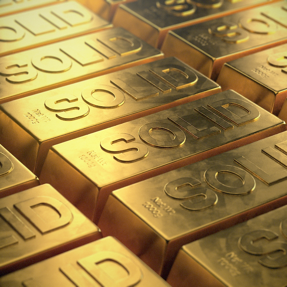 Solid Gold - Textural Experiments using Redshift 3D