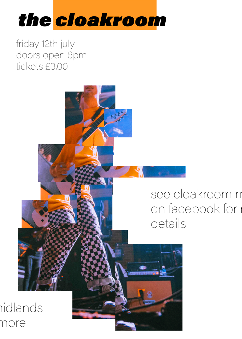 Cloakroom: I really like gig posters and I have this on running mini series where I essentially make up an event name and then work from their. This one is entitled cloakroom as it was the first thing that came to mind when i was pondering on what to call the design. I thought the fragmented effect would work well and also was similar to the gentlemen's trousers in the photo. I don't actually know him, it was simply a free use photo i had found online. Shout out to Pexels.