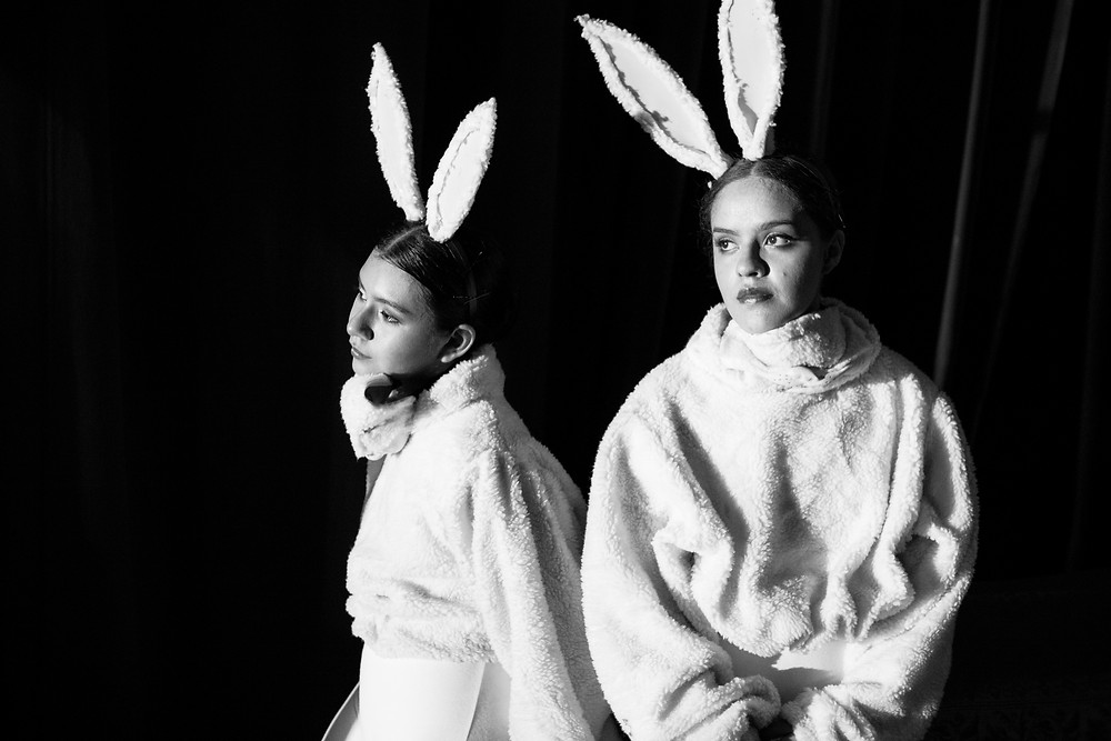 "Dancers of Fundación Ballet de El Salvador waiting to enter the scene during the presentation of the ballet ""Snow White"". El Salvador, October 2019."