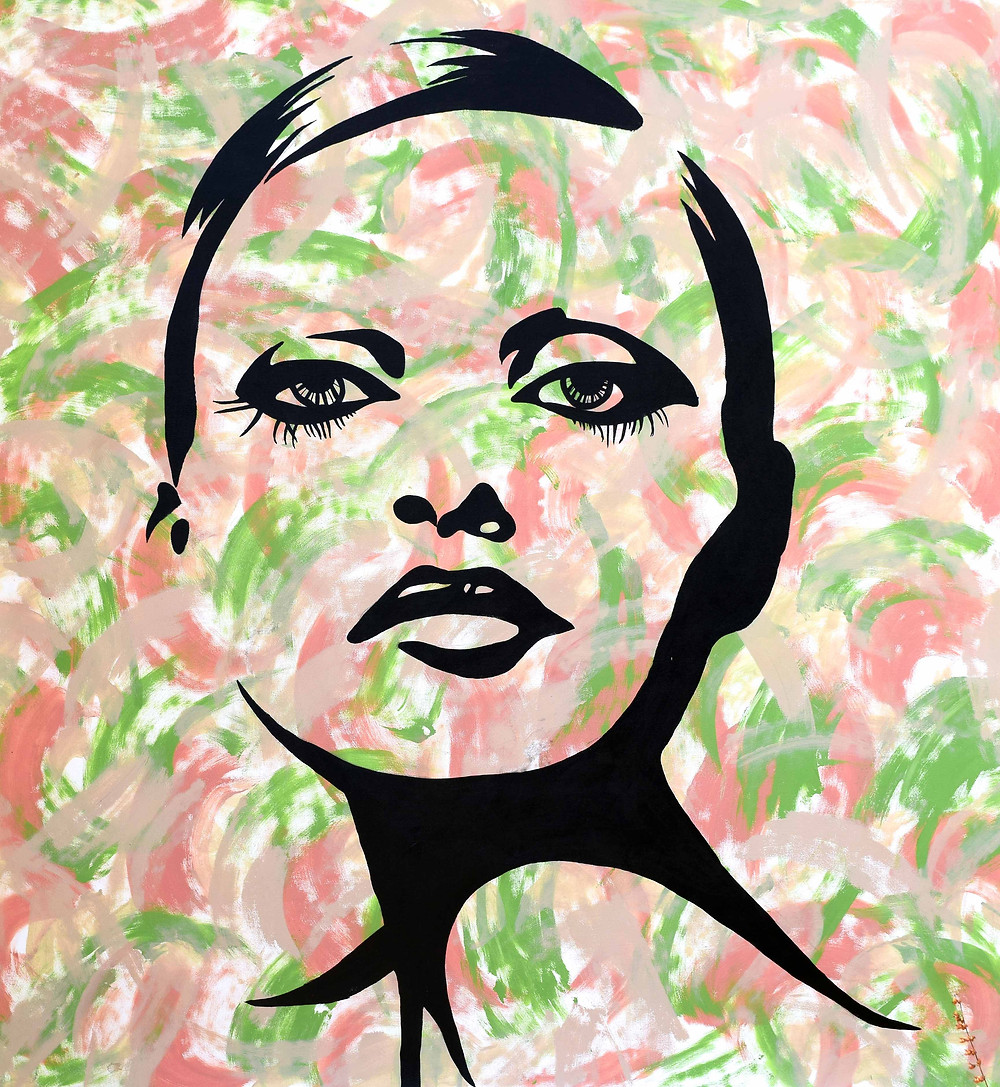 Poise is inspired from the street art of graffiti. The artist tries to portray the powerful glamorous women; Divas,  in the fashion world through graffiti art forms on canvas. with acrylics.