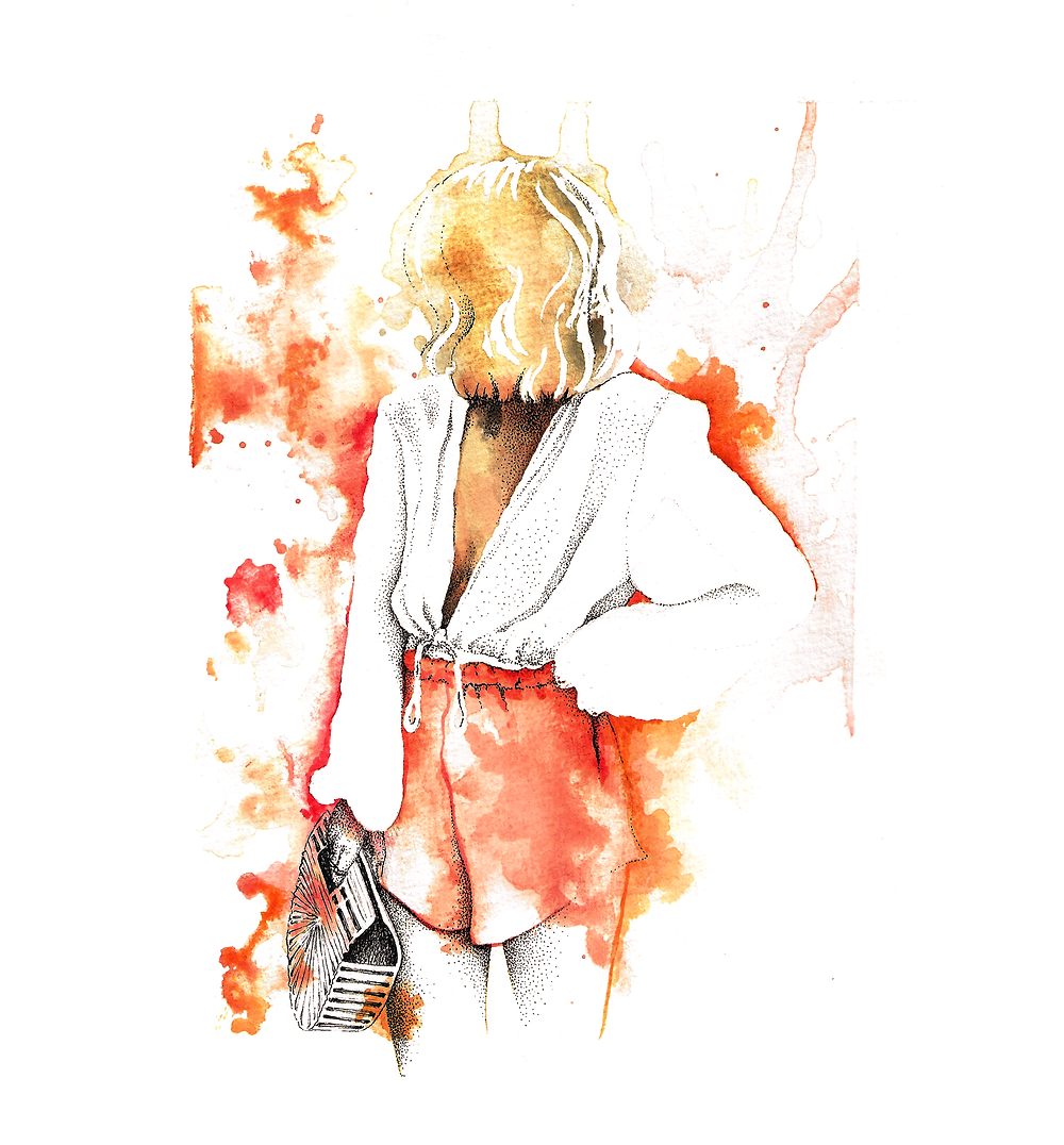"""""""Fashion colors"""" - Just playing with watercolor"""