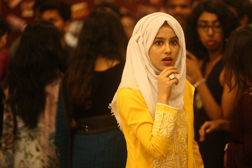 A hijabi beauty at the 6th Photo Carnival there.  SOOC.    Asian University For Women, Chittagong.