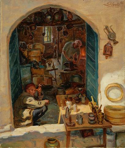 Копия Tinsmiths, 46x38cm, oil on canvas,