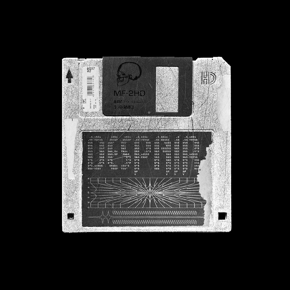 Good old floppy disk. I've been using so many colors lately, so today I decided to make a design using only black and white for a change.