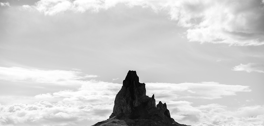 Monument Valley on the border of Utah and Arizona is magnificent, but my favorite images ended up being of Agathla Peak just outside of Kayenta, AZ, a castle-like rock that I had pulled over and photographed on my way to Monument Valley that morning.