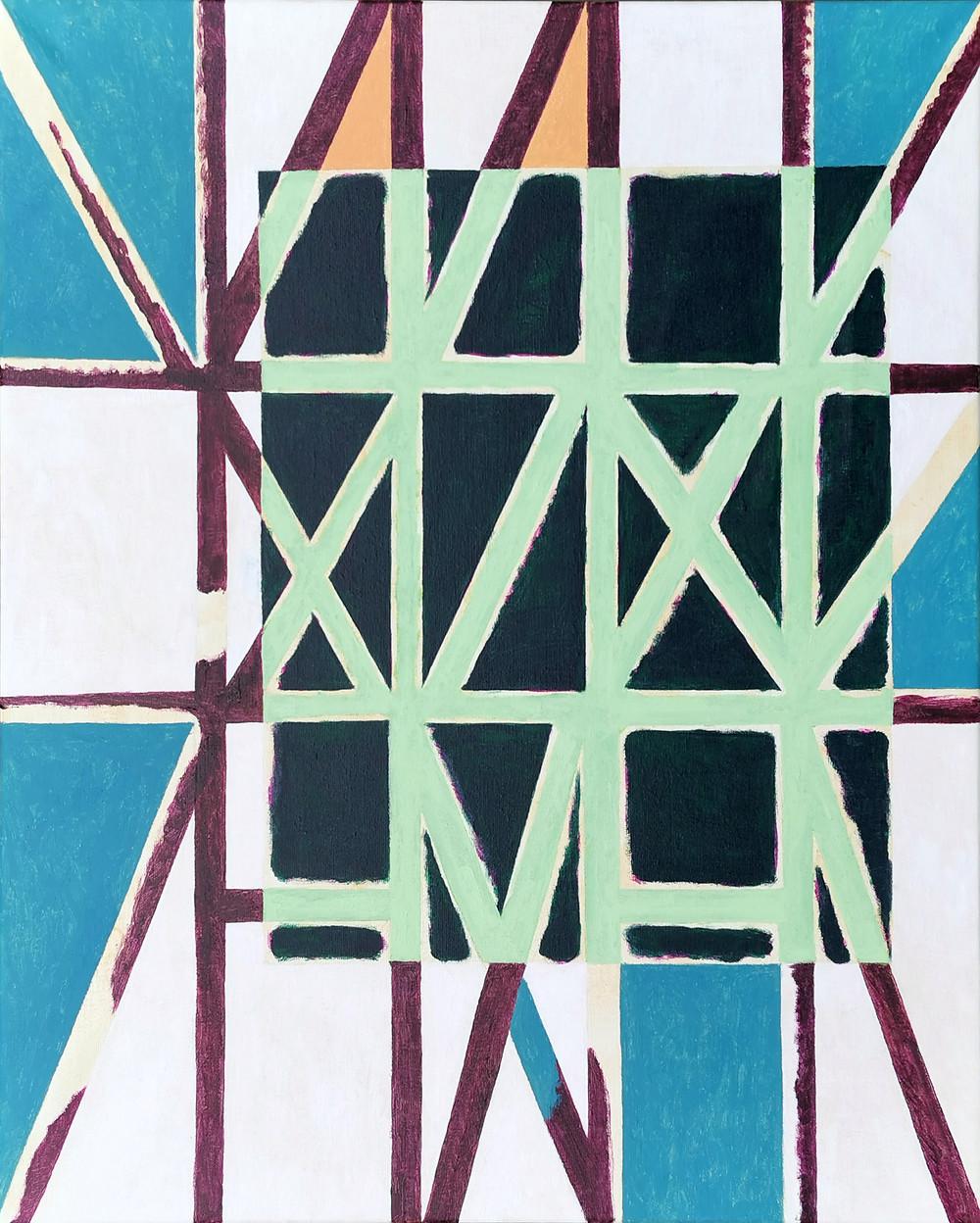 Fachwerk Und 21, 2020, acrylic on canvas, 81x65cm