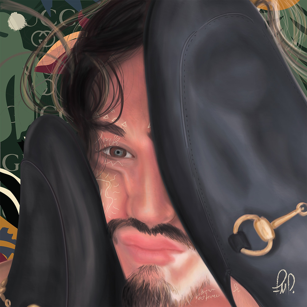 Iorc - Iorc is a fan commissioned digital painting portrait of a Famous brazilian musician - named Tiago Iorc -, made to follow the subjectivity and aesthetics of the him and his latest works.