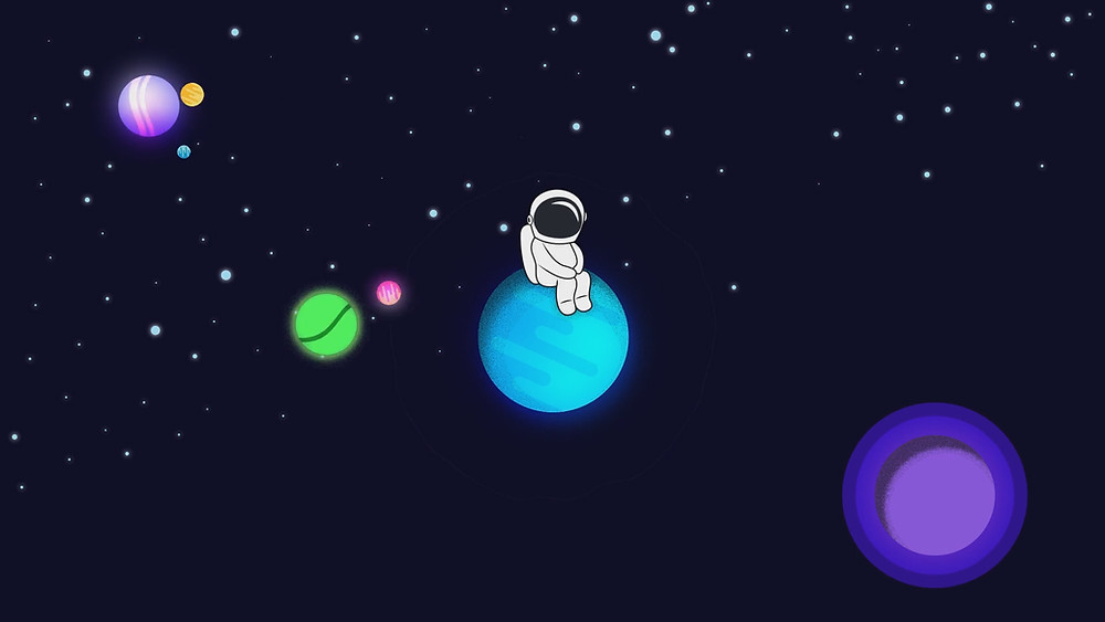 """Astronaut"" an animation about astronomy fascination"