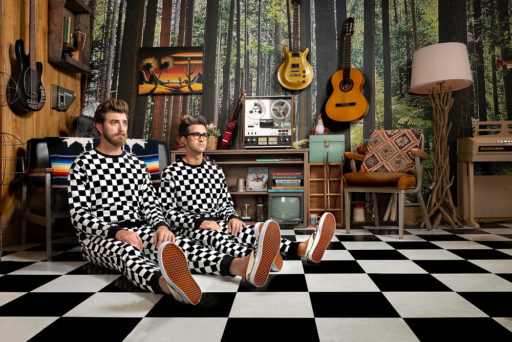 "Rhett and Link is part of an advertising campaign for the Youtube celebrities; ""Rhett and Link"""