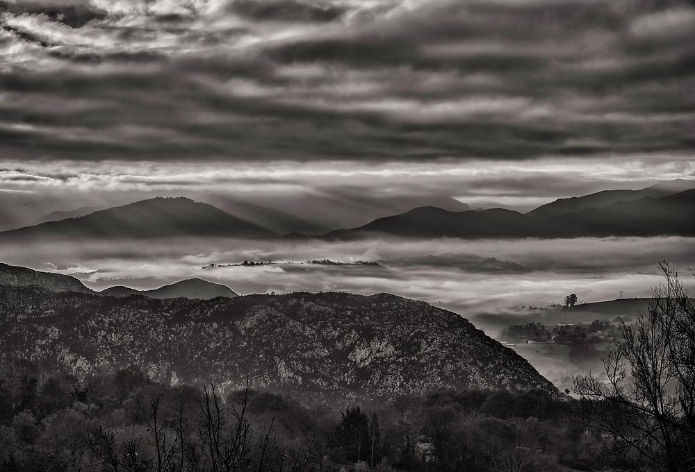 """At sunrise, taken from """"El Mirador del Sueve"""", Asturias, Spain"""