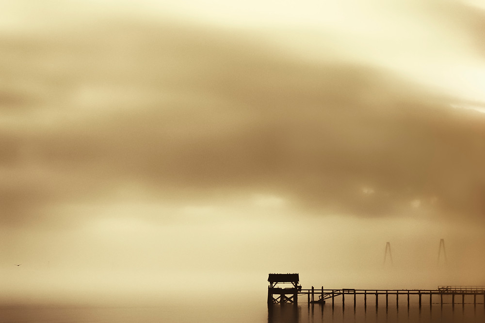 'The Fog: Charleston Harbor' Mount Pleasant, South Carolina, 2013 From the Impermanence Series