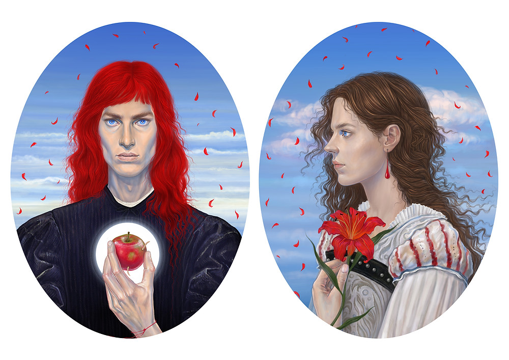 "'Heartless' & 'Belle'  Digital artworks for the series of illustrations based on the author's tale ""Beauty and the Beast""."