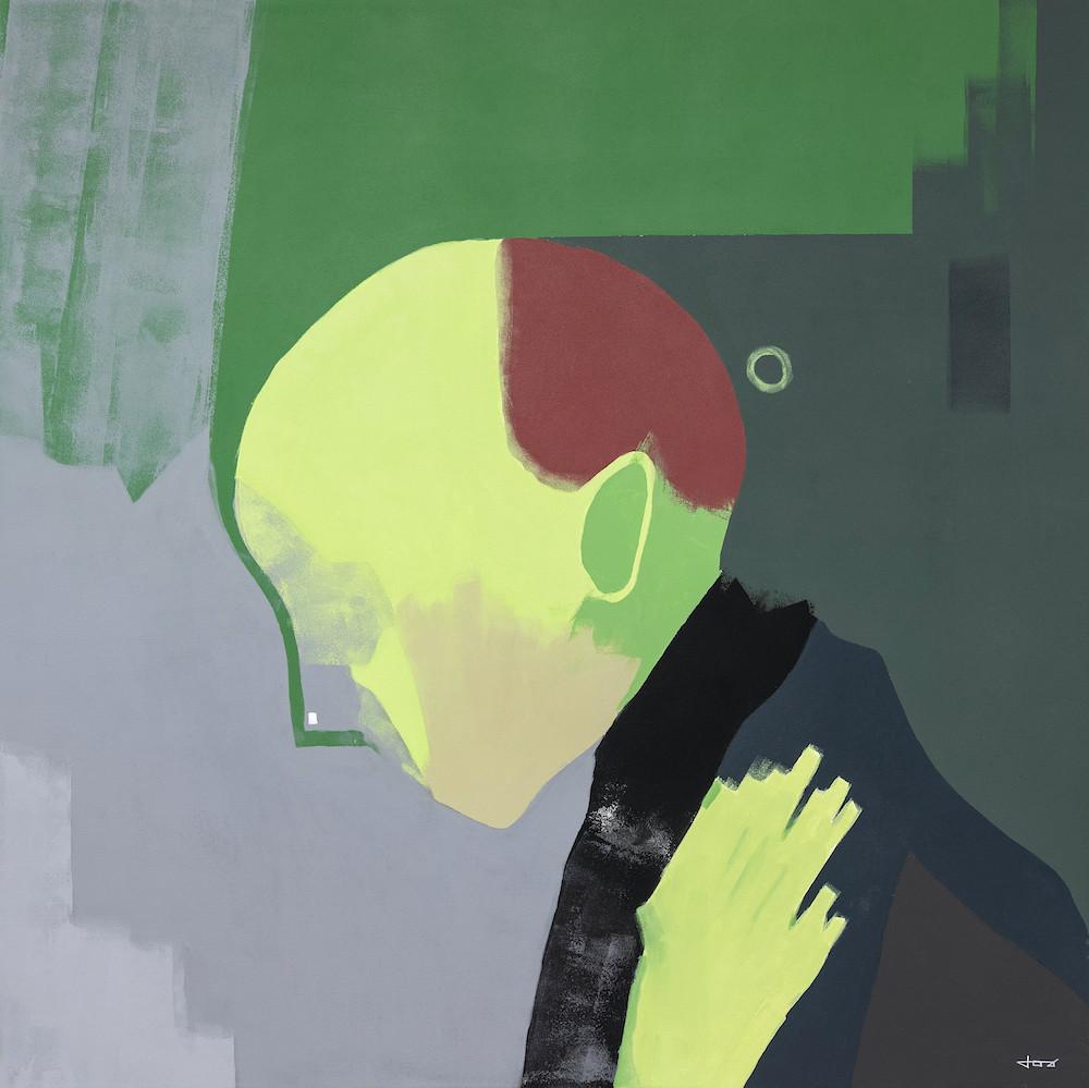 With my hand on my heart | 100x100cm acrylic on canvas