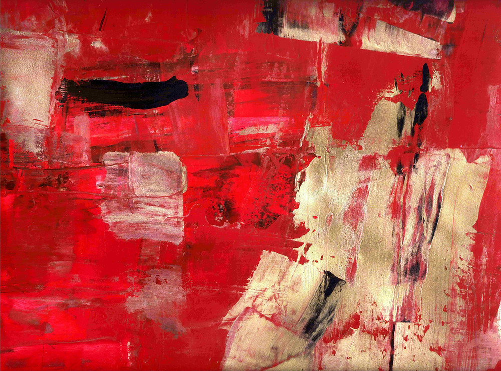 """""""l'éternité"""" From the series """"galerie rouge"""" Acryl painting on paper"""