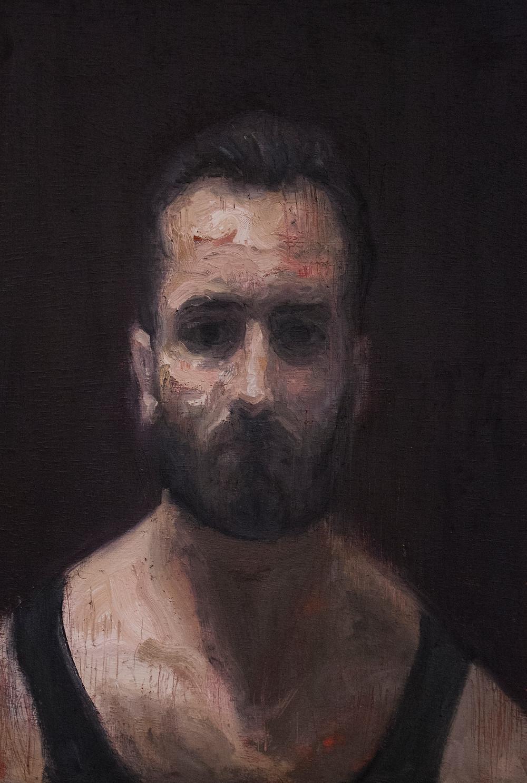 End 27 (Self Portrait) / Oil on Wood / 20 x 30 cm
