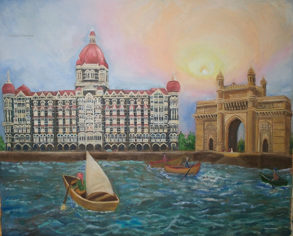 Gateway of India Medium: Oil on Canvas Size: 60 x 90 cm
