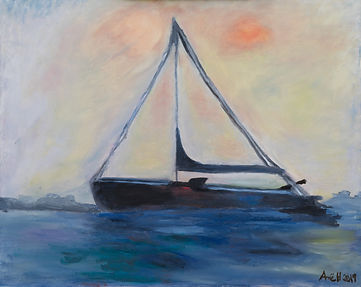 Sausalito Sailboat at Sunrise copy.jpg