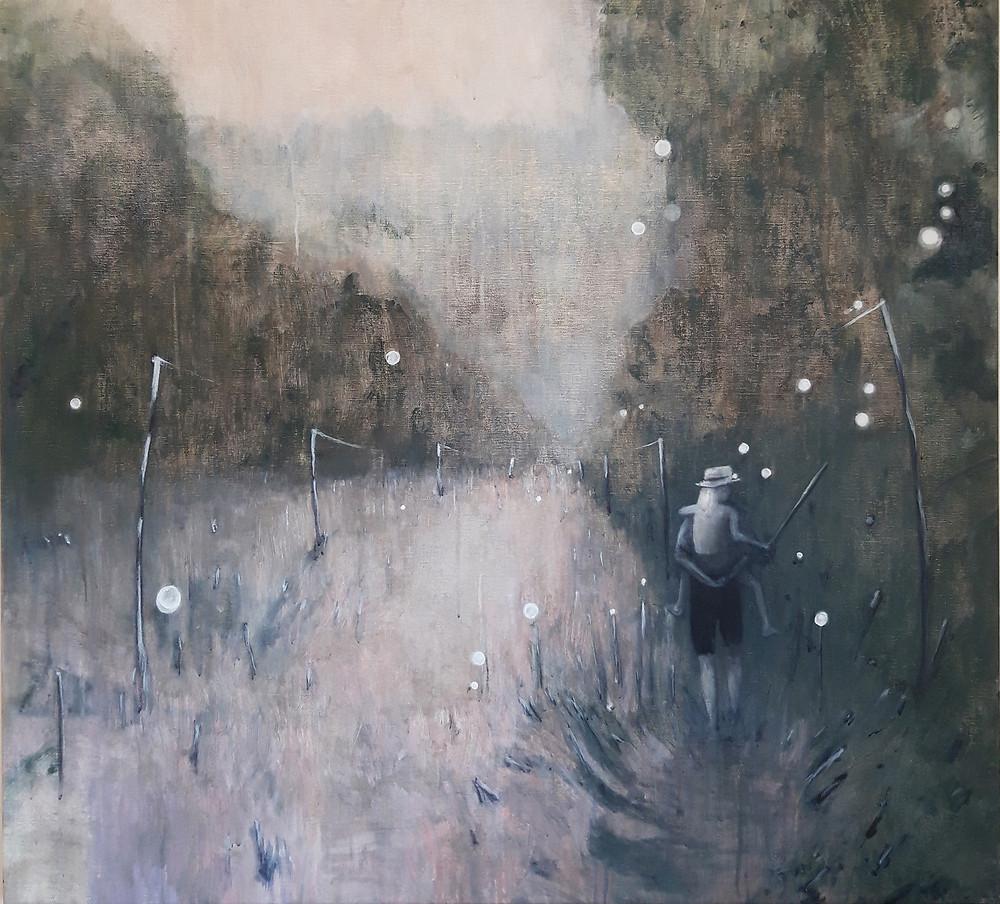 'Fireflies'   110 x 120 cm.   2018