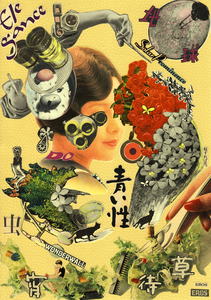"""""""hi sureba hana"""" - fixed form of collage  Flowers hidden in the form."""
