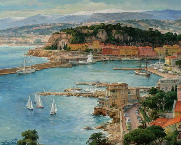 Port of Nice, 65x81cm, oil on canvas, 20