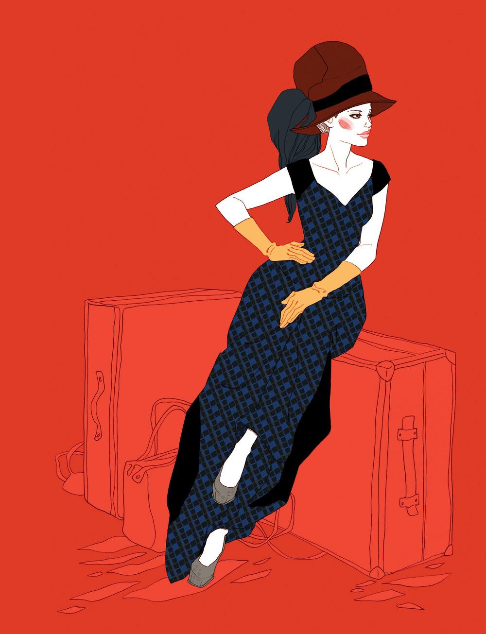 Louis Vuitton collection - illustration for Common&Sense magazine, Japan.