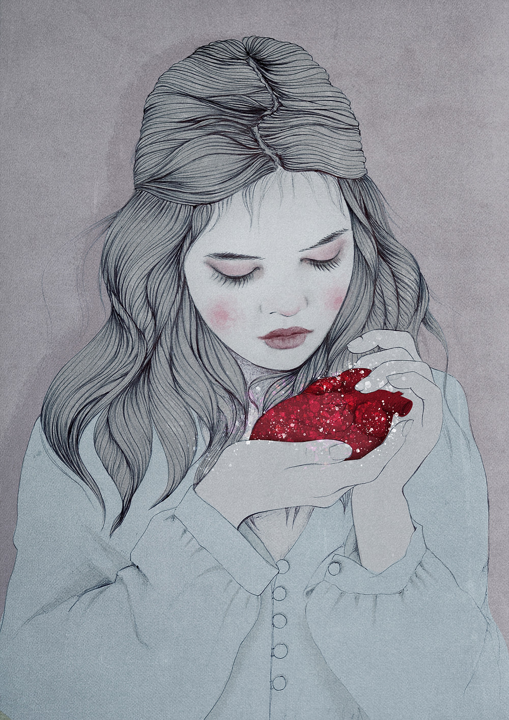 Heartbeats is an illustration for a story about a lost heart.