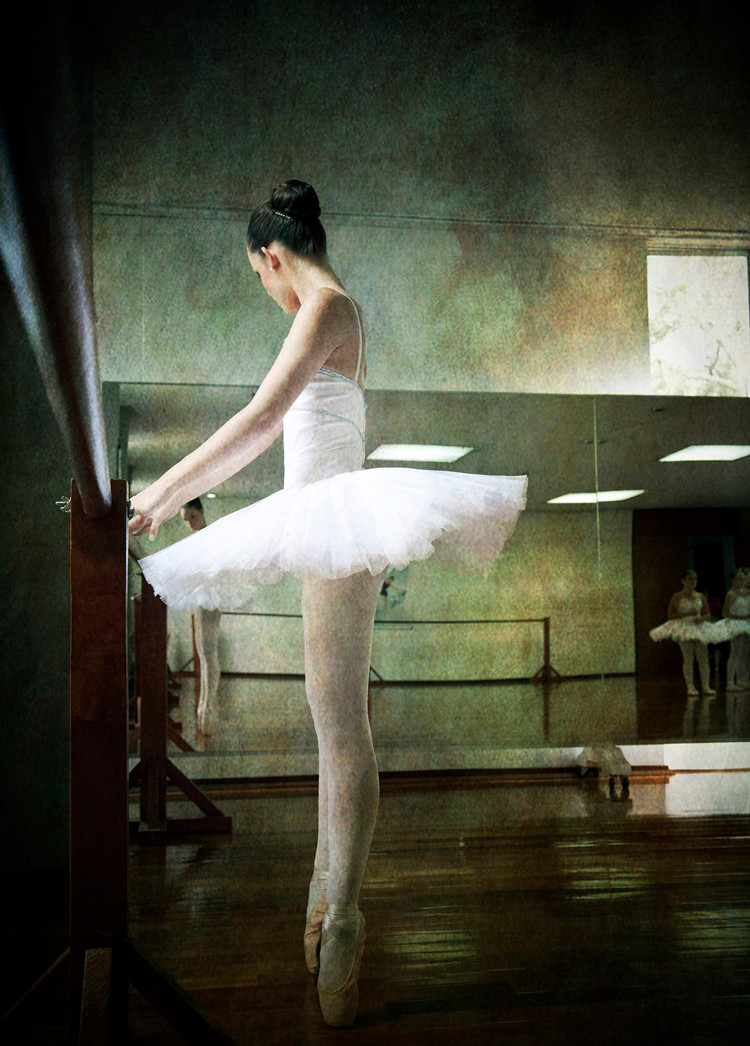Ballerina is part of a project carried out in a professional dance academy