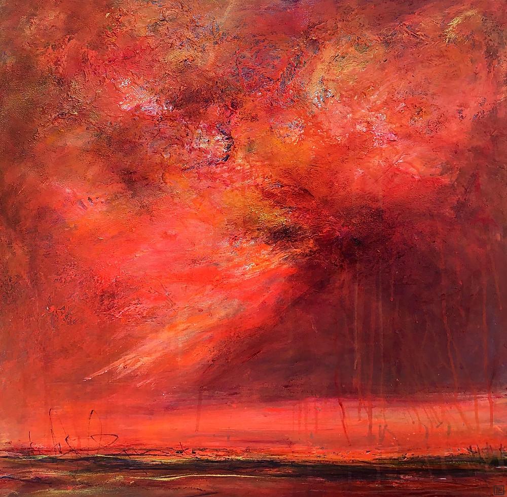 Yandina Sunset Size: 60cm x 60cm