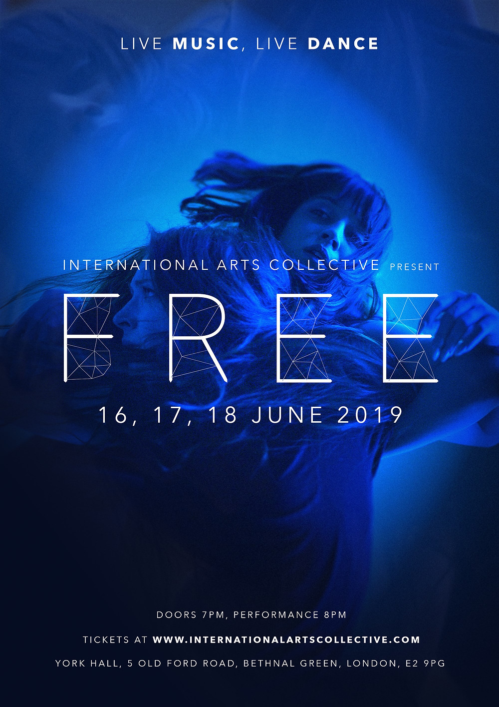 Rose Alice and IAC present FREE 3 nights of contemporary ballet,  DJ and bars at York Hall, E2,  June 16th 17th 18th 2019