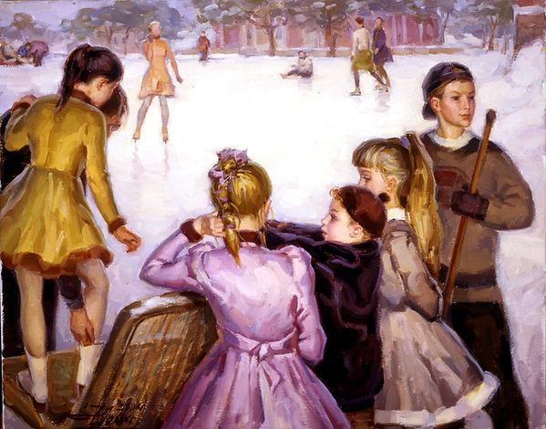 Копия n.3 On the skating ring, 40x50 o.k