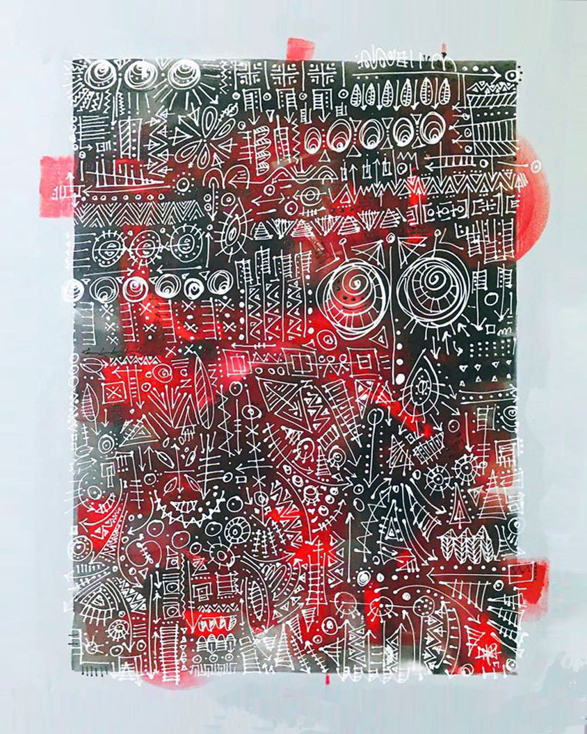SYSTEMATIC DISARR AY I Acrylic on Canvas 39 x 59 in. (100 x 150cm.) 2017