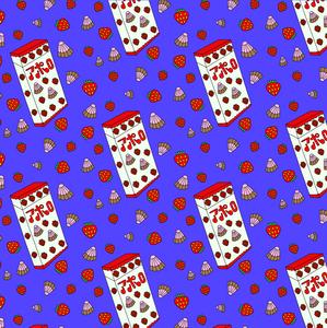 Meiji Strawberry Chocolate pattern